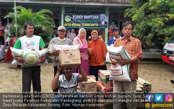 Kementan Gerak Cepat Membantu Korban Tsunami Selat Sunda - JPNN.COM