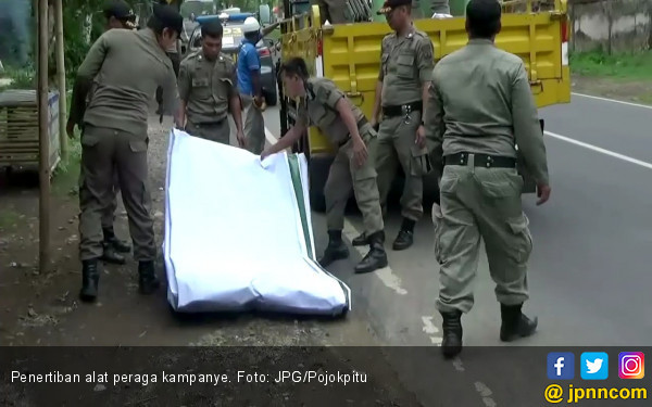 Tiap Dua Minggu Atribut Kampanye Nakal Bakal Dicopot Paksa - JPNN.COM
