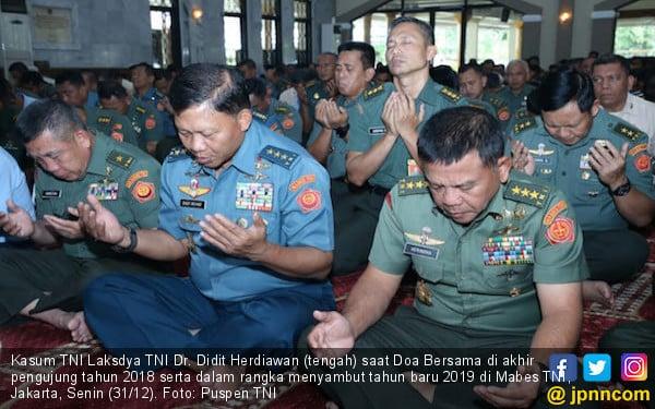 Sambut Tahun Baru 2019, Mabes TNI Gelar Doa Bersama - JPNN.com