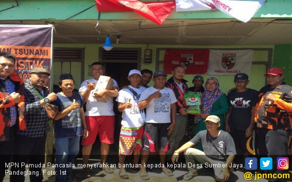 MPN Pemuda Pancasila Bantu Korban Tsunami di Pandeglang - JPNN.com