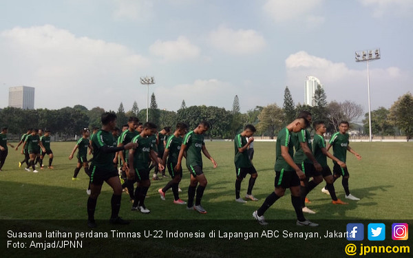 Latihan Perdana Timnas Indonesia U-22 tanpa Egy dan Ezra - JPNN.COM