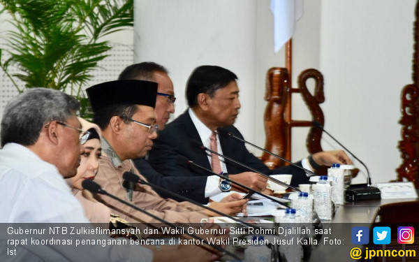 Gubernur NTB Laporkan Progres Penanganan Gempa ke Wapres JK - JPNN.com