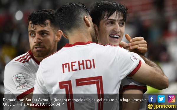 2 Kali Main 7 Gol, Iran Tembus 16 Besar Piala Asia 2019 - JPNN.COM