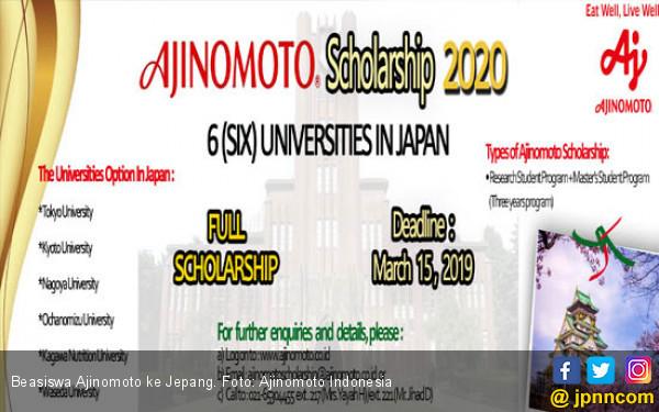 Beasiswa Ajinomoto, Yuk Kuliah S2 di Jepang - JPNN.COM