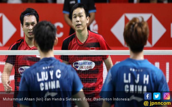 Indonesia Masters: Ahsan / Hendra Menang Mudah dari Tiang Listrik Tiongkok - JPNN.COM