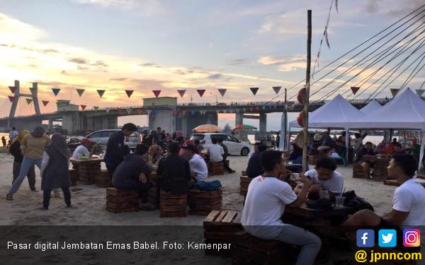GenPI Babel Menggebrak Lewat Pasar Jembatan Emas - JPNN.com
