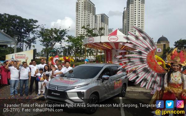 Roadshow Penutup Xpander Tons of Real Happiness Ambil Area Summarecon Mall Serpong - JPNN.COM