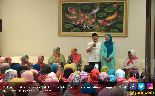 Ratusan Muslimat NU Kumpul di Rumah Cak Imin, Cerita soal PKB Sampai Kuburan - JPNN.com