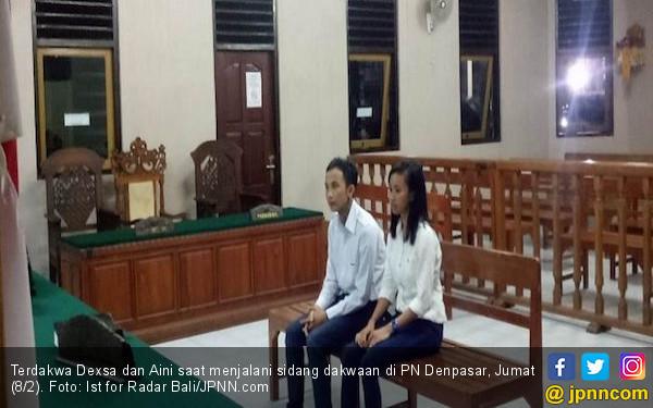 Sejoli Pemilik Ribuan Ekstasi Umbar Kemesraan Menjelang Sidang - JPNN.COM