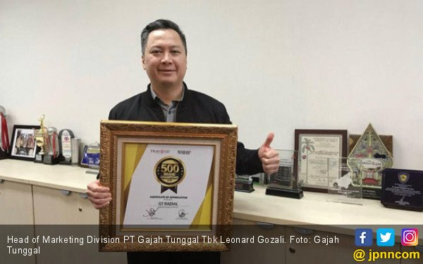 GT Radial Sabet Penghargaan Brand Champions 2019 - JPNN.COM