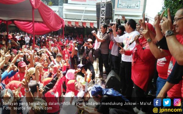 Ribuan Nelayan Pangandaran Deklarasi Dukung Jokowi - Ma'ruf - JPNN.COM