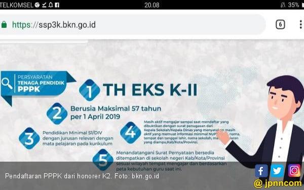 Honorer K2 Belum Bisa Daftar PPPK di sscasn.bkn.go. id, Ini Penyebabnya - JPNN.COM