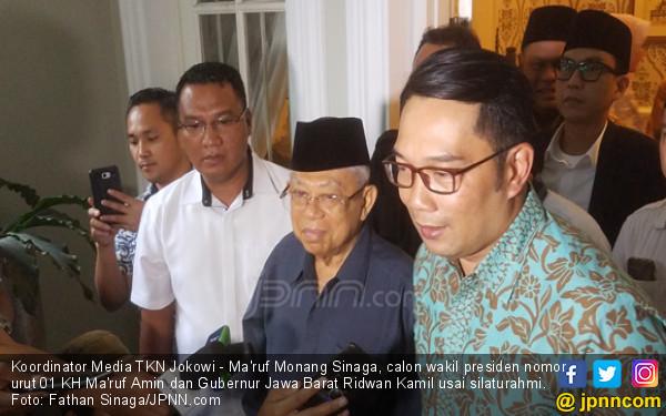 Sambil Melepas Rindu, Kang Emil Doakan Ikhtiar Kiai Ma'ruf Amin Terkabul - JPNN.COM
