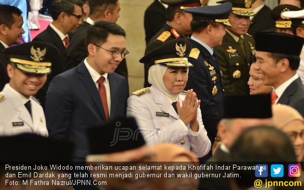 Pesan Presiden Jokowi untuk Mbak Khofifah dan Mas Emil di Jatim - JPNN.com