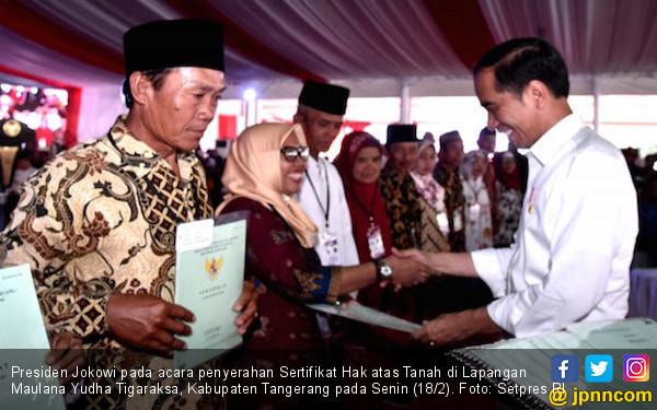 Jokowi: Sertifikat Ini Jangan Sampai Dijual