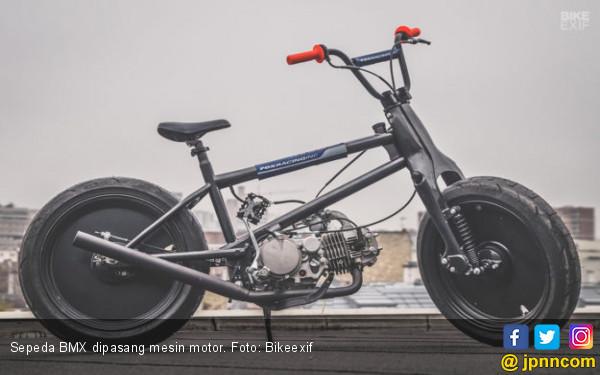 Begini Jadinya Ketika Sepeda Bmx Gendong Mesin Motor Jpnn Com