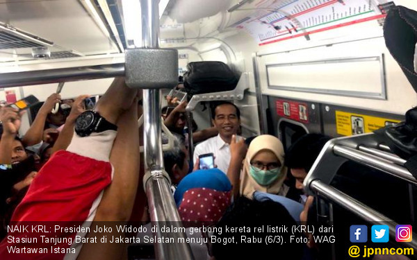 Jokowi Ungkap Alasannya Naik KRL Saat Jam Sibuk - JPNN.COM
