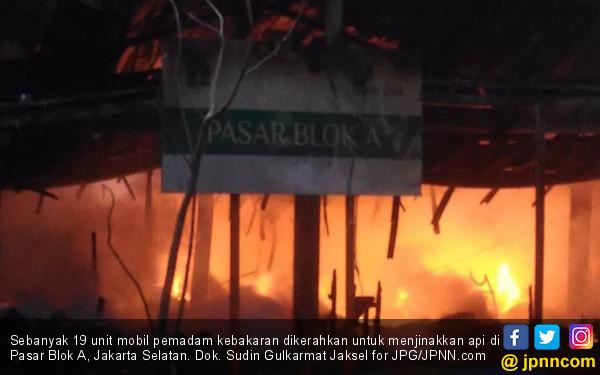 Polisi Masih Selidiki Penyebab Kebakaran Pasar Blok A - JPNN.COM