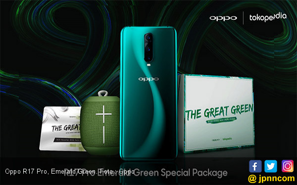 Oppo Gandeng Tokopedia Buka Pre-order R15 Pro Emerald Green - JPNN.com