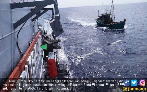 Polairud Tembak Dua ABK Kapal Asing Pencuri Ikan di Selat Malaka