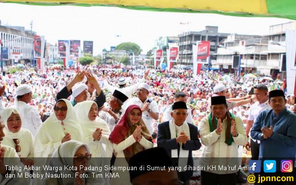 Ma'ruf Amin: Kami Menargetkan Suara Sebesar 60 Persen di Sumatera Utara - JPNN.com