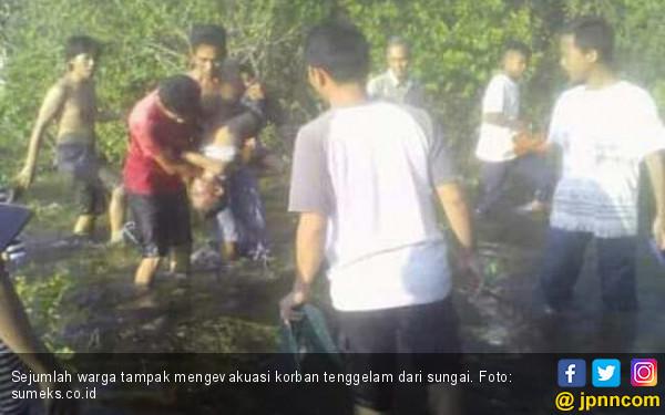 Bocah Tenggelam di Sungai Pangkalan Samak Ditemukan Tak Bernyawa - JPNN.COM