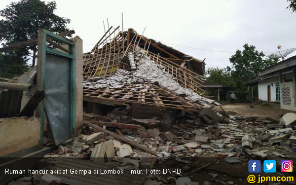 Gempa Kembali Guncang Lombok, Ratusan Rumah Hancur - JPNN.com