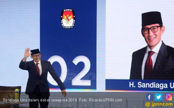 Debat Cawapres 2019: Sandi Singgung Soal Tenaga Kerja Asing dan Honorer - JPNN.COM