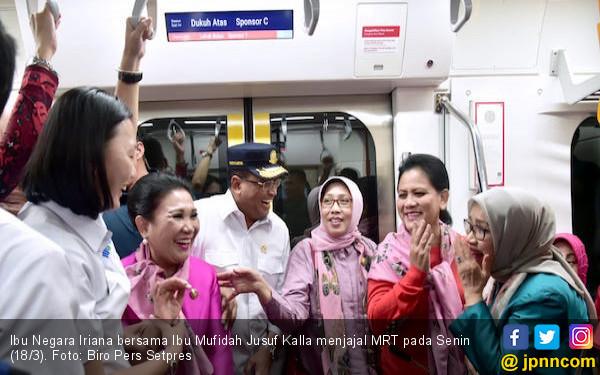 Jajal MRT Jakarta, Ibu Negara Iriana Jokowi: Mantap dan Nyaman! - JPNN.com