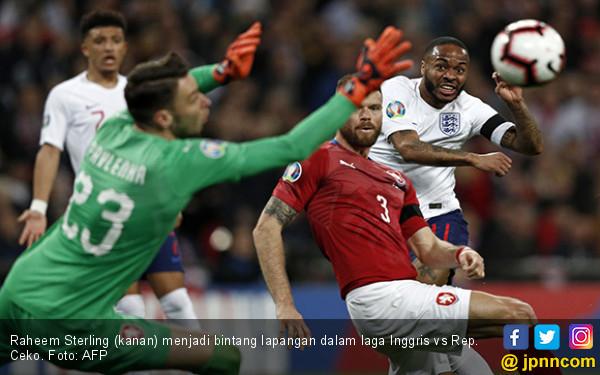 Kualifikasi Euro 2020: Inggris Pesta Pora, Raheem Sterling Ukir Rekor