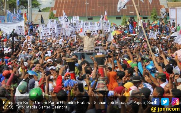 Berkampanye di Merauke, Prabowo Bercerita soal Jelajah Rawa - JPNN.com