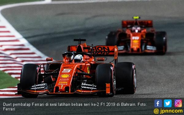 Duet Pembalap Ferrari Dominasi Sesi Latihan Bebas Seri 2 F1 2019 di Bahrain - JPNN.com