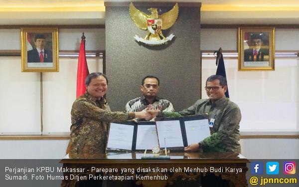 Perjanjian KPBU Makassar - Parepare Ditandatangani - JPNN.com