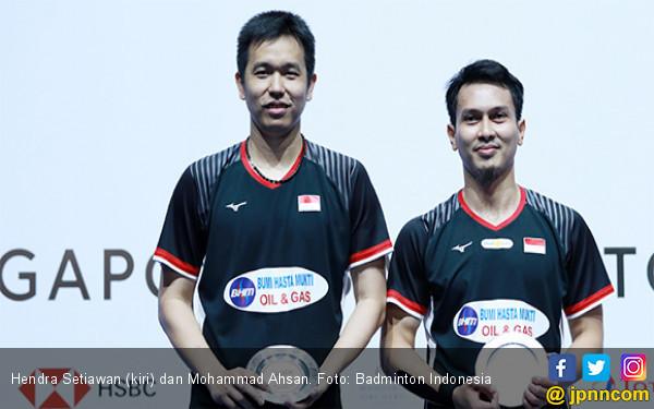 Ahsan / Hendra Bersyukur Bisa jadi Runner-up Singapore Open 2019 - JPNN.com