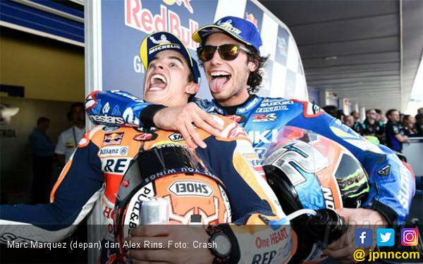 Gara-Gara Ini Marquez Serahkan Kemenangan MotoGP Inggris ke Alex Rins - JPNN.com
