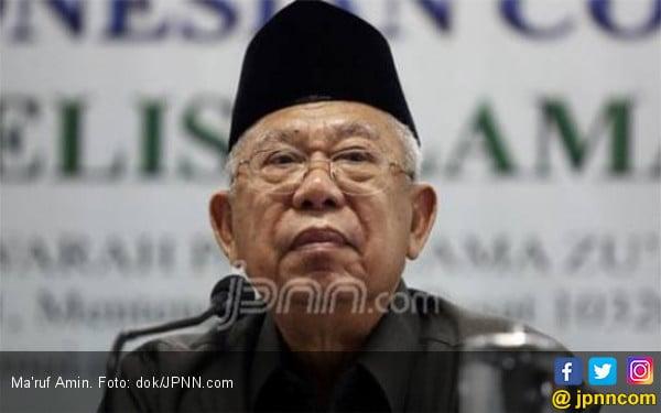 Soal Kabinet, Ma'ruf Amin Pasrahkan ke Jokowi - JPNN.com