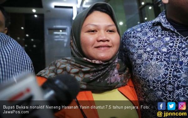 Bupati Bekasi Neneng Yasin Dituntut 7,5 Tahun Penjara, Hak Politik Dicabut - JPNN.com