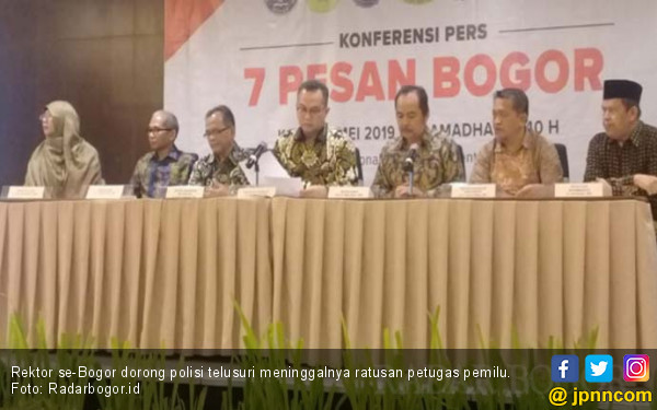 Rektor se-Bogor Meminta Polisi Telusuri Meninggalnya Ratusan Petugas Pemilu - JPNN.com
