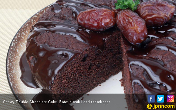 Resep Chewy Double Chocolate Cake, Bikin Yuk Buat Buka Puasa - JPNN.com