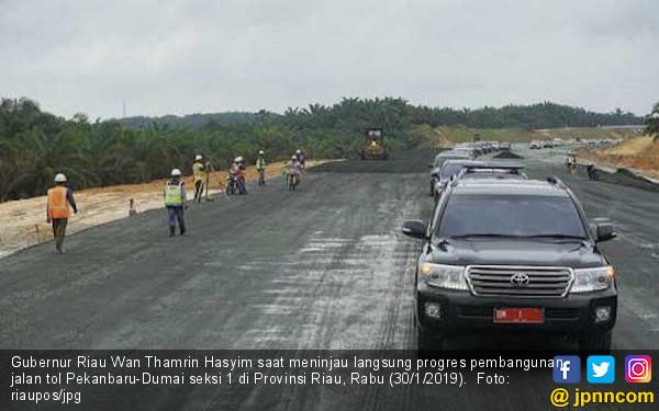 Tol Pekanbaru-Dumai Seksi 1 Siap Dioperasikan Desember 2019 - JPNN.com