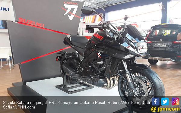 Suzuki Katana, Motor Perang Jepang Mendarat di Jakarta Saat Demo 22 Mei - JPNN.com