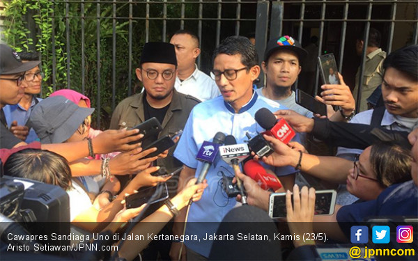 Tempuh Jalur MK, Sandiaga Uno Tidak Akan Selesaikan Sengketa Pilpres di Jalanan - JPNN.com