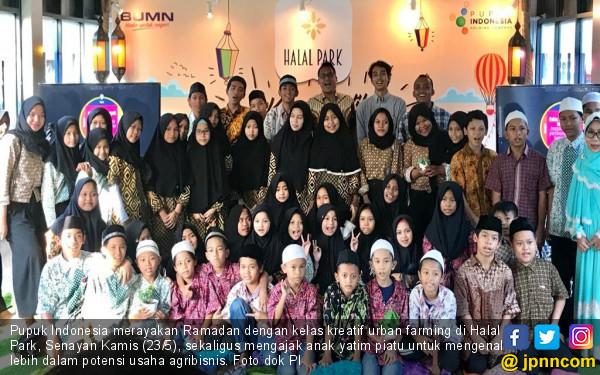 Ajak Anak Yatim Piatu, Pupuk Indonesia Kenalkan Urban Farming di Halal Park - JPNN.com