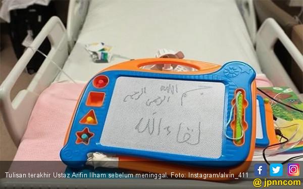 Ini Tulisan Ustaz Arifin Ilham Sebelum Meninggal - JPNN.com