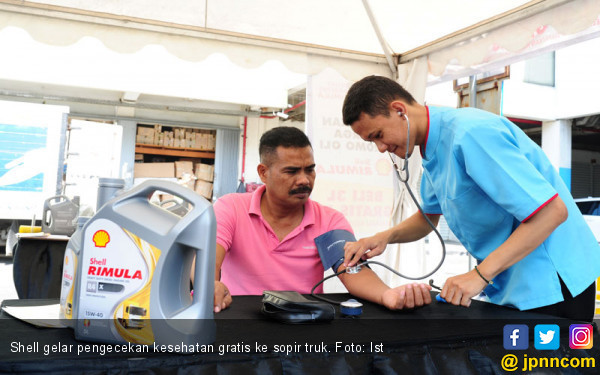 Shell Gelar Pengecekan Kesehatan Gratis Untuk Sopir Truk Selama Ramadan - JPNN.com