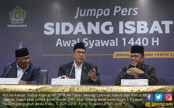 Hasil Sidang Isbat: 1 Syawal 1440 H Jatuh pada 5 Juni 2019 - JPNN.com