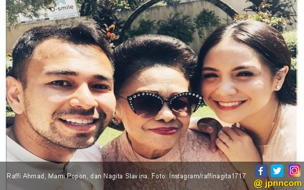 Raffi Ahmad Bersyukur Bisa Lebaran Bareng Mami Popon - JPNN.com