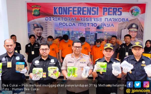 Bea Cukai – Polri Gagalkan Penyelundupan 31 Kg Methamphetamine - JPNN.com