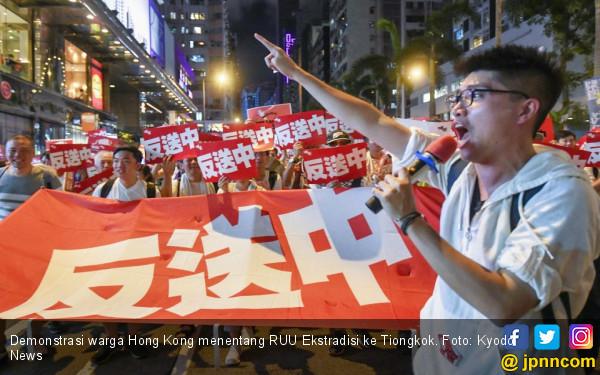 Tiongkok Tangkap Dua Warga Negara Asing Terkait Demo Hong Kong