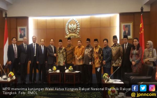 Ketua MPR Terima Kunjungan Kongres Rakyat Nasional RRT, Ini yang Dibahas - JPNN.com